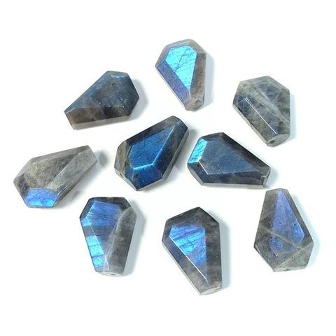 Бусина лабрадорит треугольник граненый 18х15 мм 1 бусина УЦЕНКА