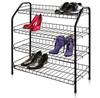 Этажерка для обуви ЭТ1 4-х ярусная, на металлокаркасе (цвет черный), Ника, г. Ижевск