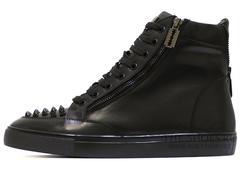 Кеды Мужские Philipp Plein Hi-Top Spikes Classic Leather (с Мехом)