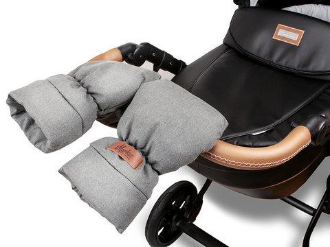 Markus. Меховые варежки для коляски Mitt Limited, серые