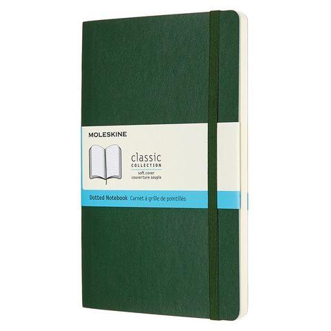 Блокнот Moleskine CLASSIC SOFT QP619K15 Large 130х210мм 192стр. пунктир мягкая обложка зеленый