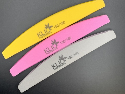 Баф полукруг желтый,серый,розовый 100/180 KLIO