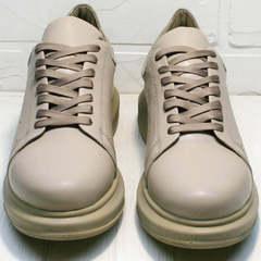 Стильные кроссовки для повседневной ходьбы Markos 1523 All Beige.