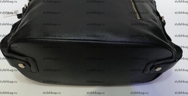 Женская черная сумка из кожи NF190906