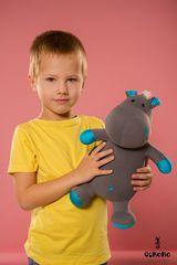 Подушка-игрушка антистресс «Бегемот малыш Няша», голубой 2