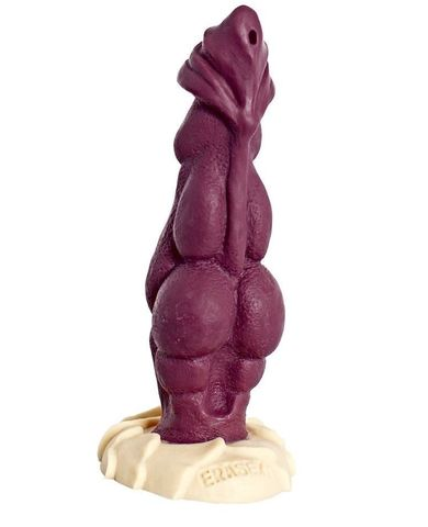 Бордовый фаллоимитатор  Дракон  - 22 см.