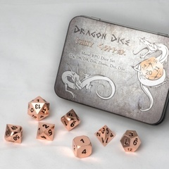 Blackfire Dice - Metal Dice Set - Copper