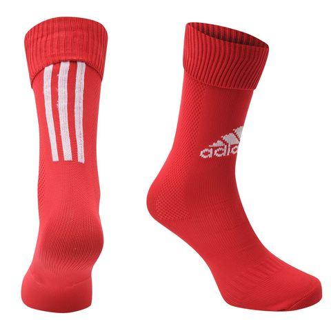 купить Гетры для становой тяги Adidas Santos красные вид спереди и сзади