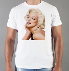 Футболка с принтом Мэрилин Монро  (Marilyn Monroe) белая 007