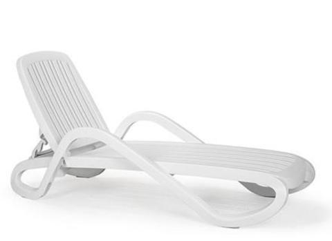 Пластиковый шезлонг Nardi Eden white