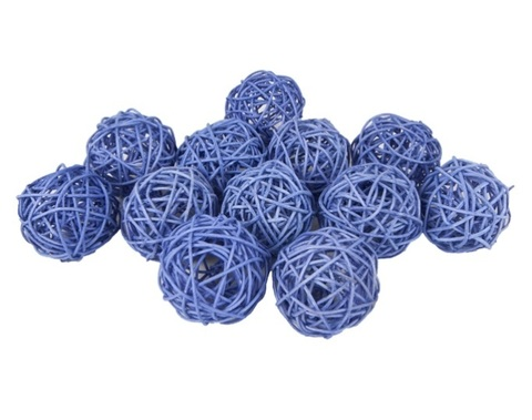 Плетеные шары из ротанга (набор:12 шт., d6 см, цвет: сиреневый)