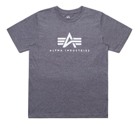 Футболка Alpha Industries Basic Logo Grey (Серая)