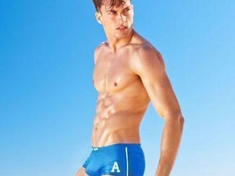 Мужские плавки хипсы голубые Aussiebum Varsity Hip Blue