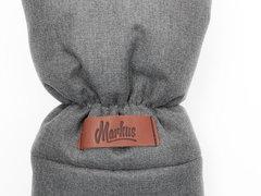 Markus. Меховые варежки для коляски Mitt Limited, серые вид 5