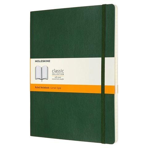 Блокнот Moleskine CLASSIC SOFT QP621K15 XLarge 190х250мм 192стр. линейка мягкая обложка зеленый