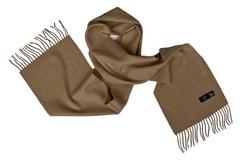 Шерстяной шарф коричневый 00508