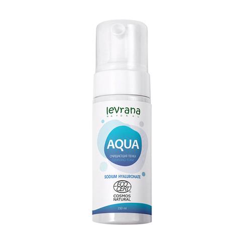 Levrana, Пенка для умывания AQUA с гиалуроновой кислотой, 150мл