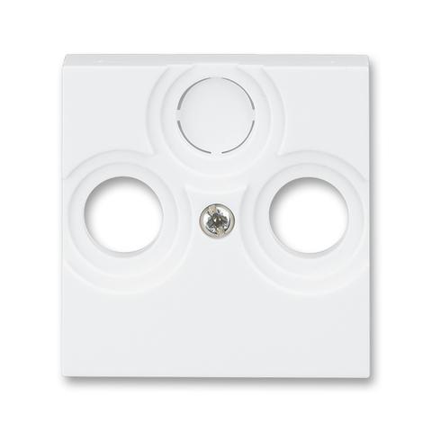 Лицевая панель для телевизионных розеток TV-R / TV-R-SAT. Цвет Белый. ABB. Levit(Левит). 2CHH080300A4003
