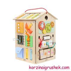 развивающие домики Занятный дом Большой Малышарики корзина игрушек