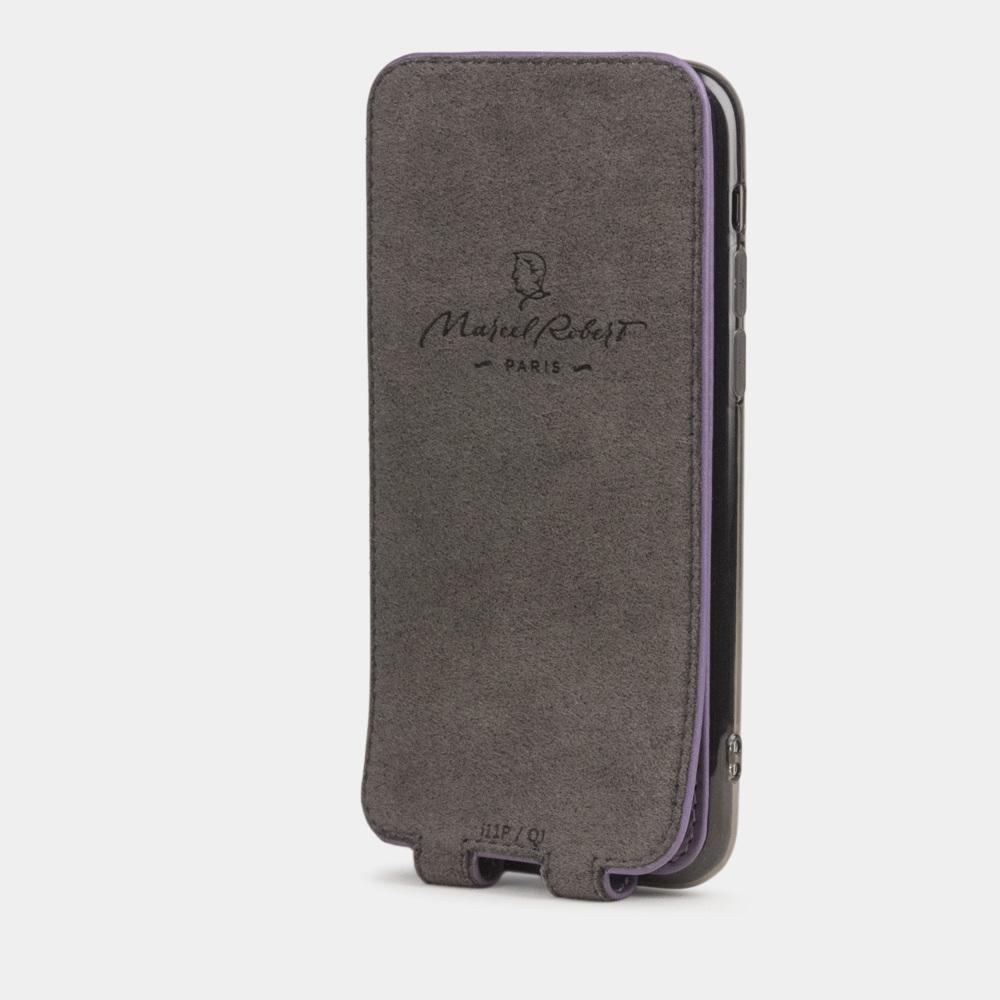 Чехол для iPhone 11 Pro из натуральной кожи теленка, фиолетового цвета