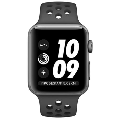 Watch S3 Nike+ 42mm Space Grey Al/Black Sport Band