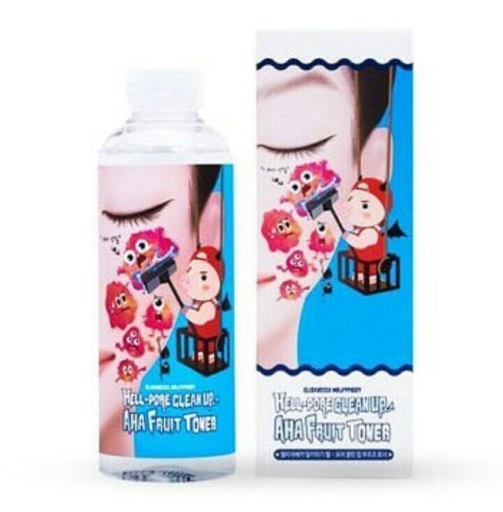 Тоник-пилинг с фруктовыми кислотами ELIZAVECCA HELL-PORE CLEAN UP AHA FRUIT TONER (200ml)