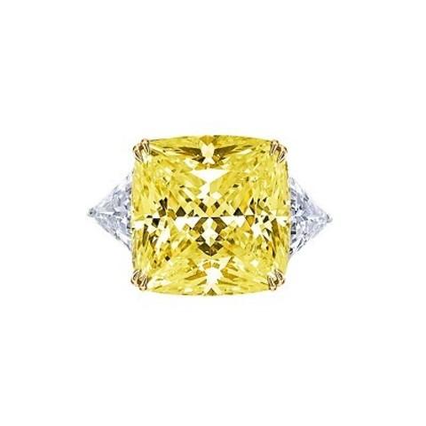 4850- Кольцо из серебра с желтым цирконом в стиле KoJewelry