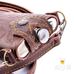 Фляга в чехле с заклепкой и длинным ремешком, 250 мл, фото 3
