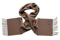 Шерстяной шарф коричневый 00501