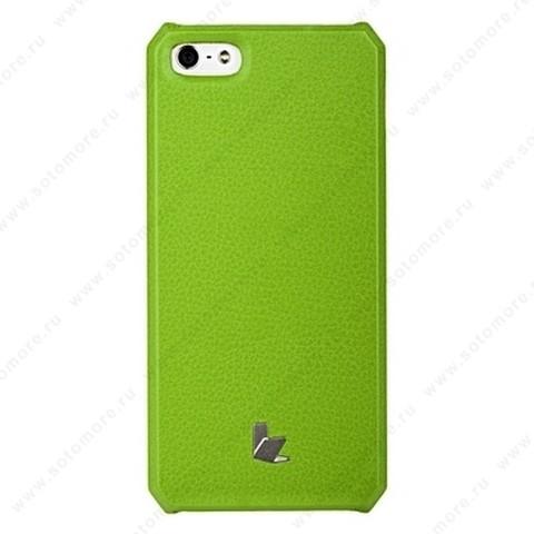 Накладка Jisoncase для iPhone SE/ 5s/ 5C/ 5 цвет зеленый JS-IP5-01H