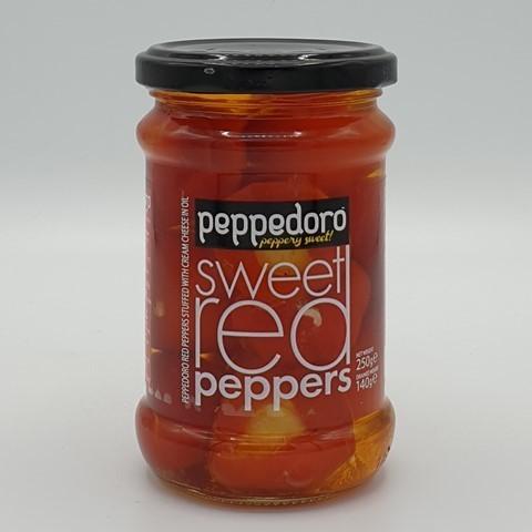 Перец красный сладкий фаршированный сыром peppadoro ROYAL MEDITERRANEAN, 250 гр
