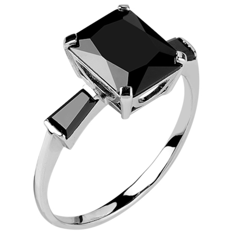 Кольцо из серебра с нано шпинелью Арт.1094н-шп