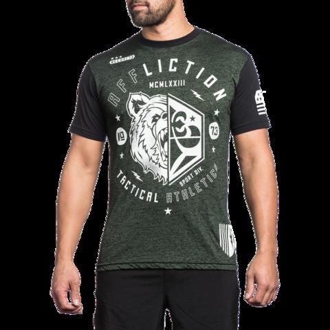 Футболка Affliction Grizzly Sport зеленая