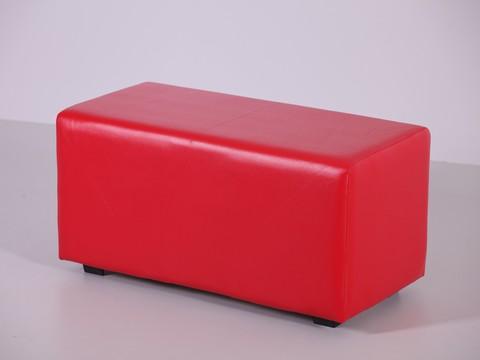 Пф-02 Пуфик прямоугольный (красный) для дома и магазина