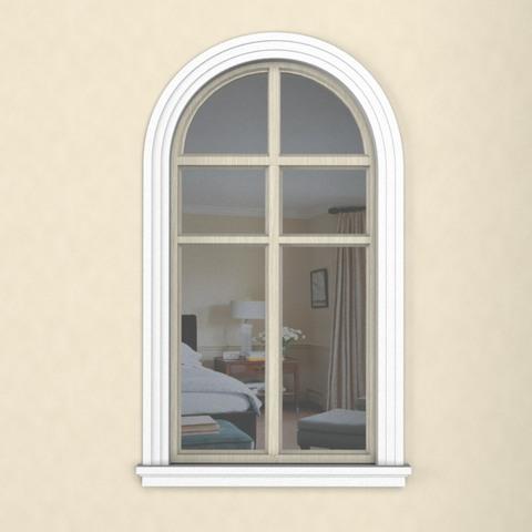 Арочное обрамление окна пенопласт