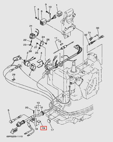 Защелка для лодочного мотора Т30 Sea-PRO (9-19W)