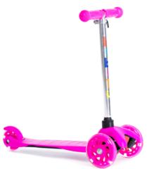 Трехколесный самокат для детей, материал - металл/пластик BIBITU  JAY SKL-06L, розовый