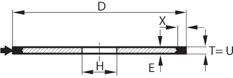 SECUR LAB Лабораторный отрезной круг D×T×H (мм) 250×1,5×32