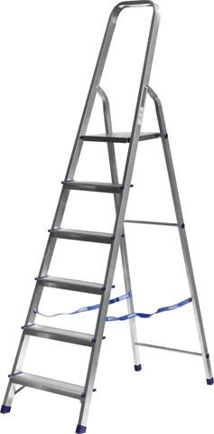 Лестница-стремянка СИБИН алюминиевая, 6 ступеней, 124 см
