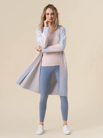 Женские брюки голубого цвета из 100% кашемира - фото 2