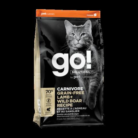 Go! Carnivore Сухой корм для кошек и котят с ягненком и мясом дикого кабана (беззерновой)