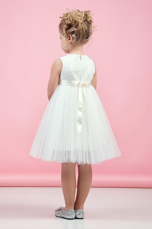 Платье молочное для девочки 38-9005-3
