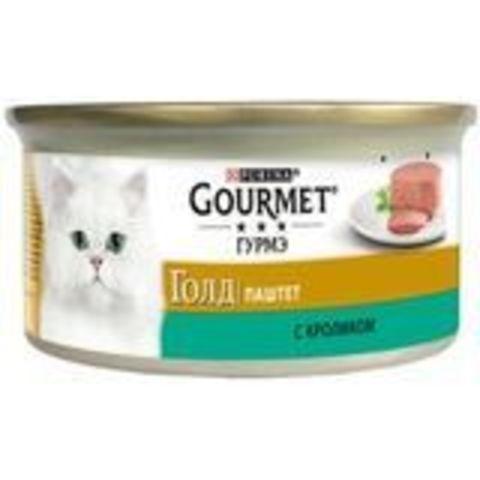 Корм для кошек Gourmet (0.085 кг) 24 шт. Gold Паштет с кроликом 1 уп