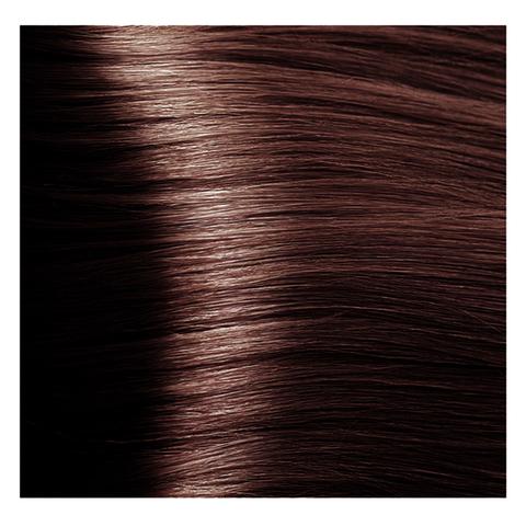 Крем краска для волос с гиалуроновой кислотой Kapous, 100 мл - HY 6.4 Темный блондин медный махагоновый