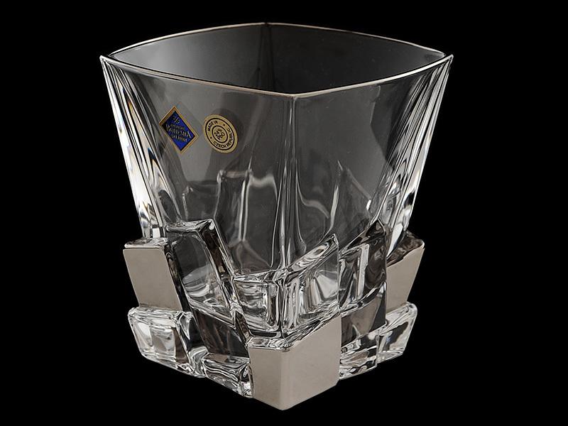 Набор из 6 бокалов для виски «Ice metal», гладкий хрусталь набор из 6 бокалов для виски прозрачная вуаль хрусталь