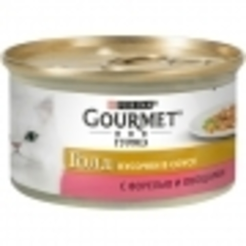 Корм для кошек Gourmet (0.085 кг) 1 шт. Gold Кусочки в соусе с форелью и овощами 1 шт