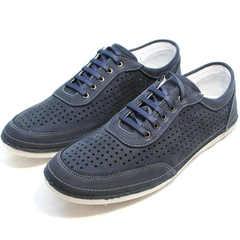 Летние кроссовки сникерсы мужские Vitto Men Shoes 3560 Navy Blue.