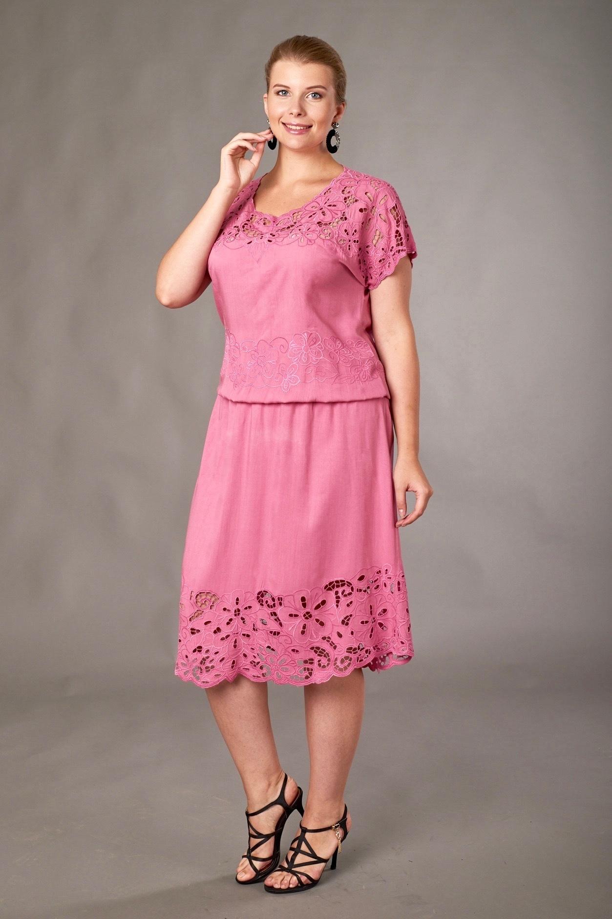 Платье Фанта брусника