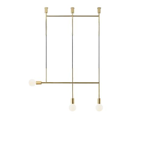 Потолочный светильник копия Triple Kick by Volker Haug (золотой)