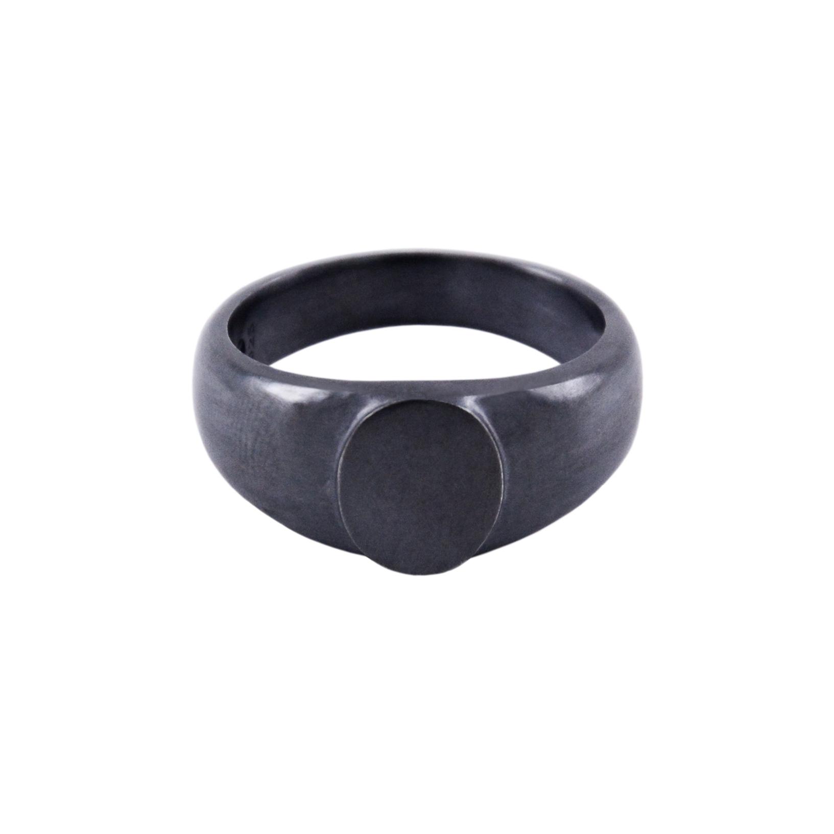 SIGNET RING V - BLACK